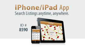 Search listings with our iPhone/iPad App